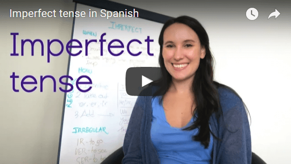 Imperfect tense in Spanish (I used to...)