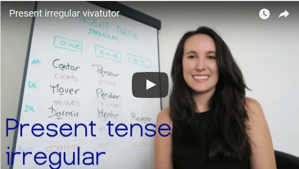 Irregular verbs in present tense - Video and grid.
