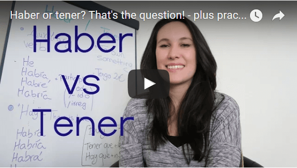 Haber or tener? That's the question!