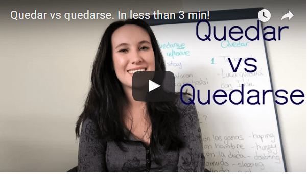 Quedar or quedarse? In less than 3 min.