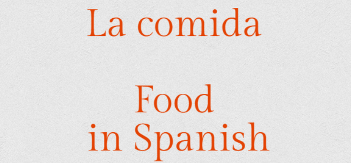 Talking about meals in Spanish