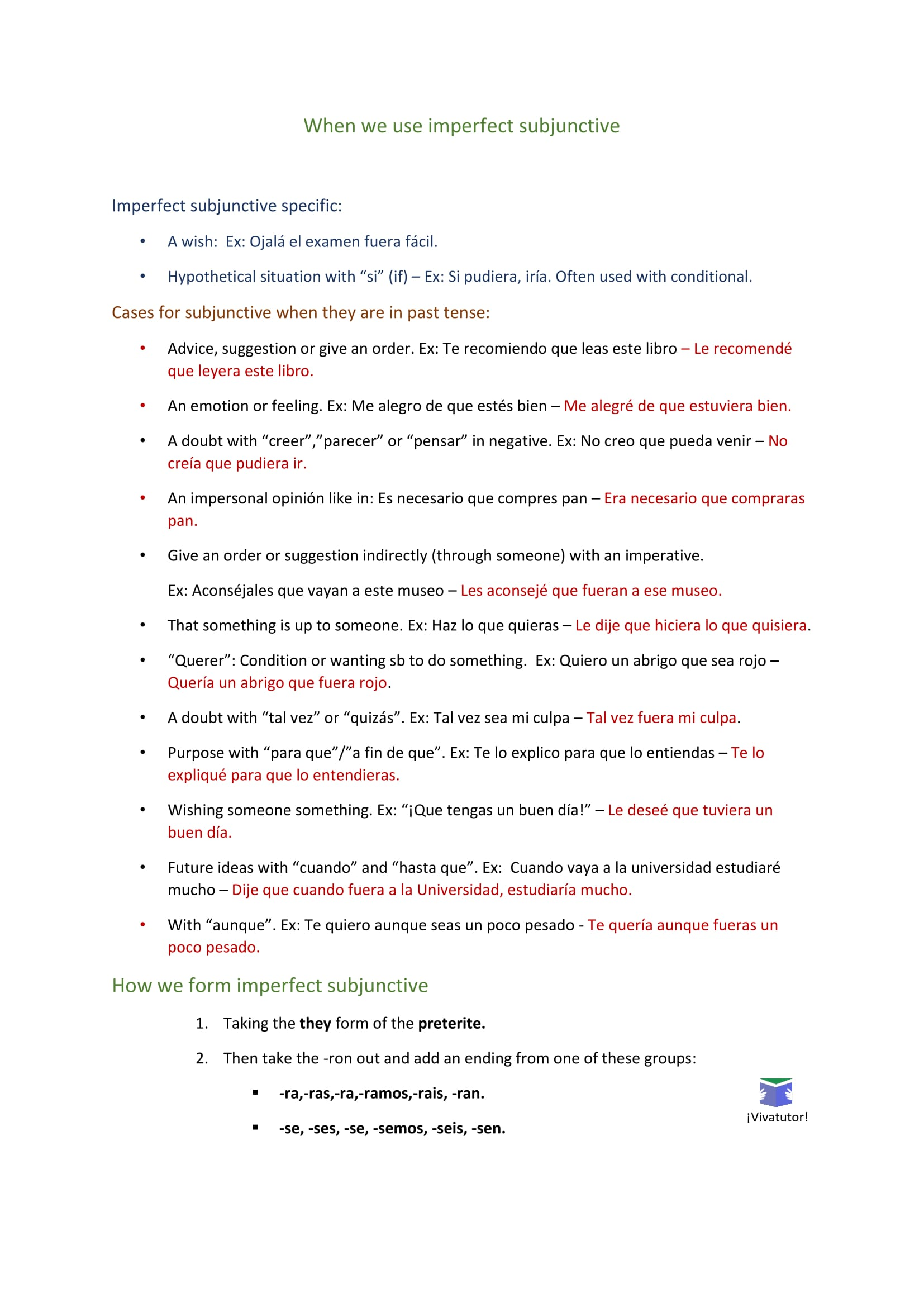 """the subjunctive The subjunctive mood: summary of forms and clause types r a lafleur (rev may 23, 2011) i concept of the subjunctive mood (definition) you will recall from wheelock ch 1 that """"mood"""" (from lat modus) is the """"manner"""" of expressing a verbal action or state of being."""